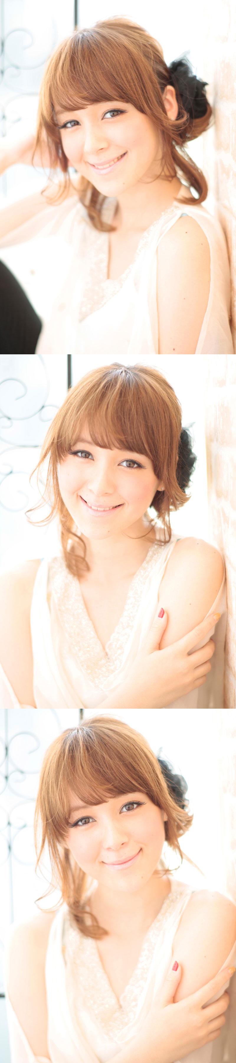 大人の小顔髪型ゆるふわパーマヘアカタログ〜簡単アレンジ(う-097)