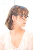 黒髪でも似合う!小顔髪型ゆるふわパーマヘアカタログ〜ラクラク可愛いアレンジ(え-042)