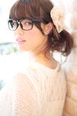 黒髪でも似合う!小顔髪型ゆるふわパーマヘアカタログ〜ラクラク可愛いアレンジ(え-046)