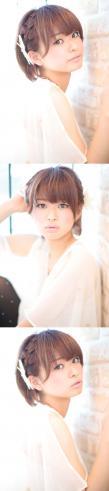 黒髪でも似合う!小顔髪型ゆるふわパーマヘアカタログ〜ラクラク可愛いアレンジ(え-058)