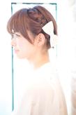 黒髪でも似合う!小顔髪型ゆるふわパーマヘアカタログ〜ラクラク可愛いアレンジ(え-059)