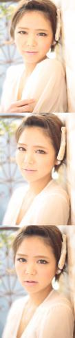 黒髪でも似合う!小顔髪型ゆるふわパーマヘアカタログ〜ラクラク可愛いアレンジ(え-074)