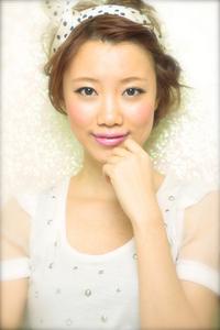 黒髪でも似合う!小顔髪型ゆるふわパーマヘアカタログ〜顔型別アレンジ編020