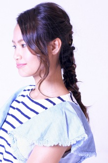 女の子らしい落ち着いたアレンジ☆|SIECLE hair&spa 銀座店のヘアスタイル