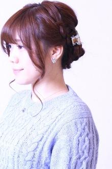 編み込みプラスのスッキリシルエット♪|SIECLE hair&spa 銀座店のヘアスタイル