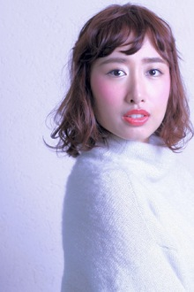 波ウェーブMIX☆ハーフアップ|SIECLE hair&spa 銀座店のヘアスタイル