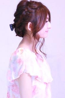 編み込みアレンジアップスタイル☆|SIECLE hair&spa 銀座店のヘアスタイル
