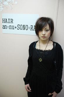 スタンダードかつSONORA的テイストなラインです。|an=nui SONO+RA?のヘアスタイル