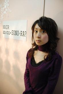 ゆったりとした創り込まないスタイルです・・・|an=nui SONO+RA?のヘアスタイル