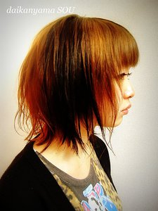 シャギーボブ×ブロックカラー|daikanyama SOUのヘアスタイル