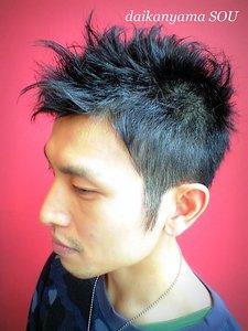 2ブロック&アシメ/メンズショート|daikanyama SOUのヘアスタイル
