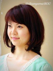シックな色合いとソフトカールで気品に満ちた表情に|daikanyama SOUのヘアスタイル