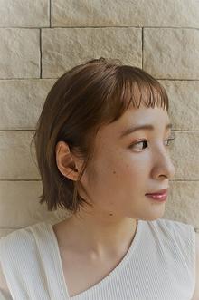 バング短いキュートボブ。|Tashaのヘアスタイル