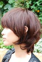 大人の女性らしさが抜群なマッシュレイヤー|Tashaのヘアスタイル