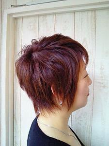 くせ毛をいかしたタイトで動きのあるショートヘア|トシちゃんの美容室のヘアスタイル