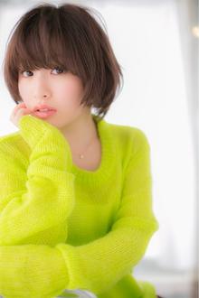 【Euphoria】顔周りが決め手☆コットンショート|Euphoria【ユーフォリア】 aoyama【アオヤマ】のヘアスタイル