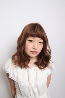 かわいい印象のウェーブ♪|HAIR MAKE WASHAW 芦屋店のヘアスタイル
