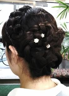 結婚式にご参列|美容室 ゆふーのヘアスタイル