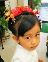 3歳でも新日本髪でお祝いです|美容室 ゆふーのヘアスタイル