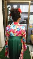 卒業式(小学校)袴着付けとヘアセット