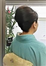 シンプルアップで卒業式のお母様|美容室 ゆふーのヘアスタイル