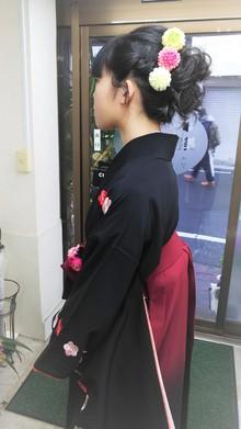 袴着付けとヘアセット|美容室 ゆふーのヘアスタイル
